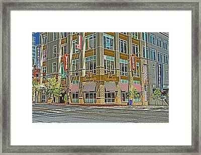 Corner Of 4th Framed Print by Karol Livote