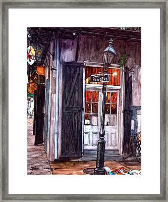 Corner Of Barracks Street Framed Print