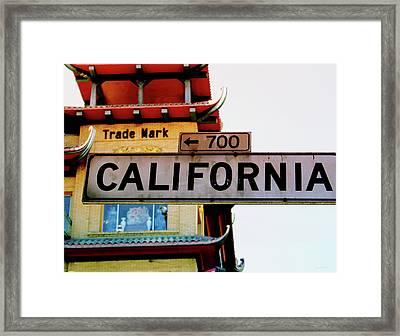 Corner Of California- Art By Linda Woods Framed Print