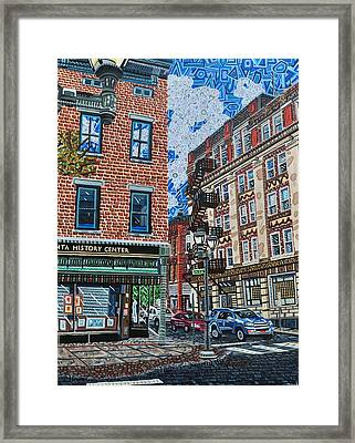 Corner Of Dietz And Main Oneonta Ny Framed Print by Micah Mullen
