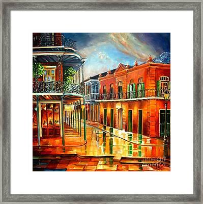 Corner Of Jackson Square Framed Print by Diane Millsap