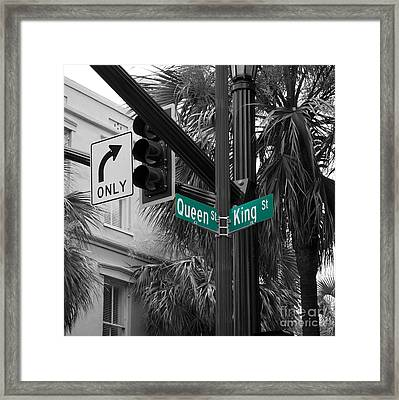 Corner Of King And Queen Framed Print