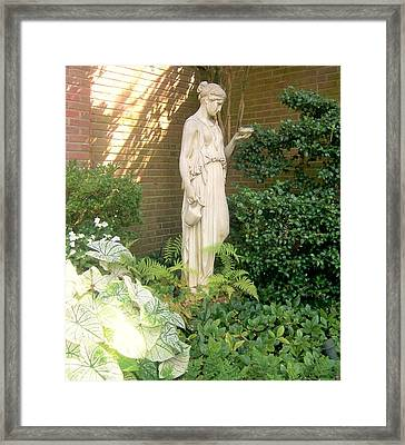 Corner Of My Garden Framed Print by Sandra Cutrer
