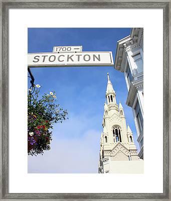 Corner Of Stockton-  By Linda Woods Framed Print
