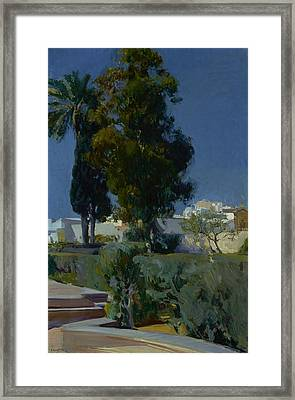 Corner Of The Garden, Alcazar, Sevilla Framed Print by Joaquin Sorolla