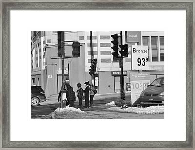 Corner Of The Street Framed Print
