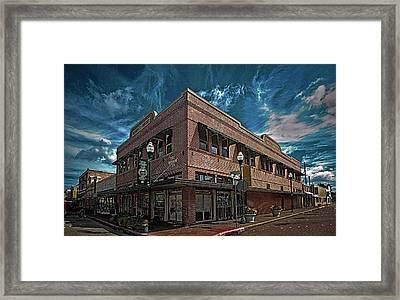 Corner Pub Framed Print by Wayne Denmark