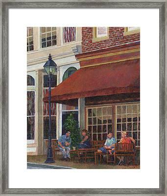 Corner Restaurant Framed Print