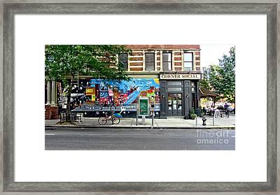 Corner Social Diner Framed Print by Nishanth Gopinathan