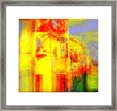 Framed Print featuring the painting Corner Stone by Fania Simon