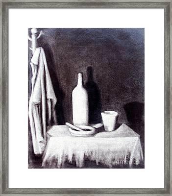 Corner Table Framed Print by Sonsoles Shack