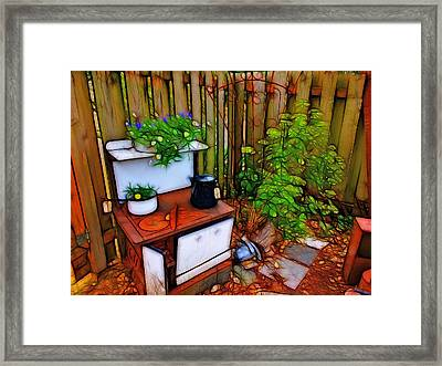 Corner View Framed Print