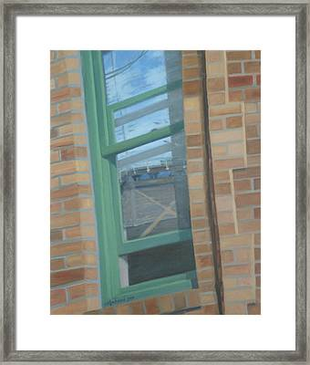 Corner Window Framed Print