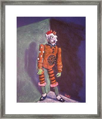 Cornered Marionette Strings Not Included Framed Print by Dennis Tawes