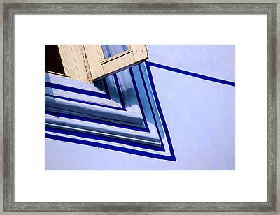 Framed Print featuring the photograph Cornering The Blues by Prakash Ghai