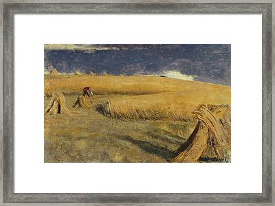 Cornfield At Ewell Framed Print by William Holman Hunt