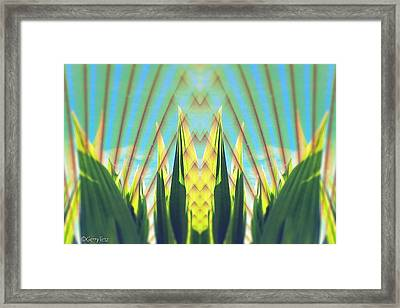 Cornfield At Sunrise Framed Print