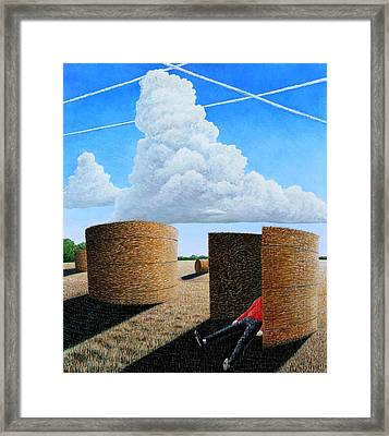 Cornfield Dreamer Framed Print by Adrian Jones