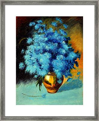 Cornflowers Framed Print by Henryk Gorecki