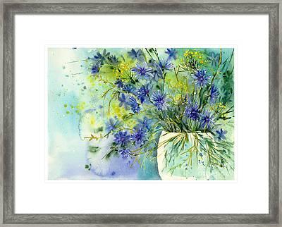 Cornflowers Symphony Framed Print