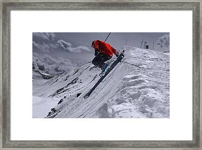Cornice Leap Framed Print by Kevin Munro