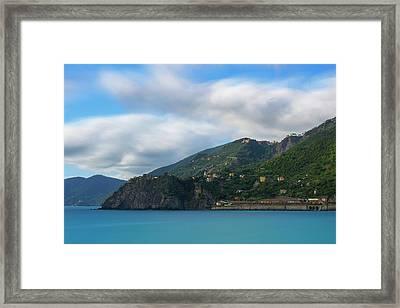 Framed Print featuring the photograph Corniglia Cinque Terre Italy by Brad Scott