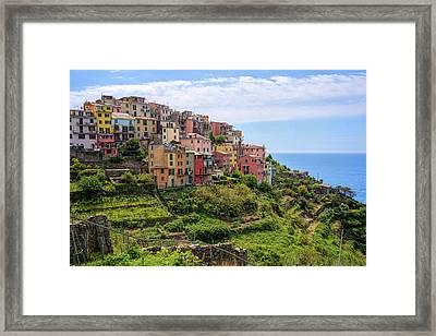 Corniglia Cinque Terre Italy Framed Print