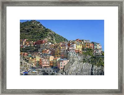Corniglia In Italy Framed Print by Patricia Hofmeester