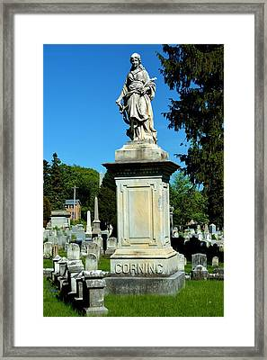 Corning Family Grave Site Framed Print by Richard Jenkins