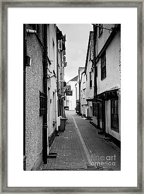 Cornish Street Looe Framed Print by Brian Roscorla