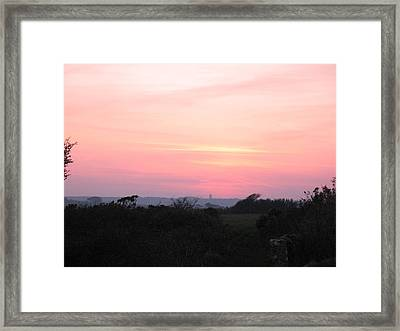 Cornish Sunset Framed Print by Tony Payne