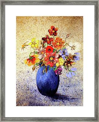 Framed Print featuring the painting Cornucopia-still Life Painting By V.kelly by Valerie Anne Kelly