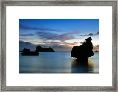 Framed Print featuring the photograph Coromandel Dawn by Nicholas Blackwell