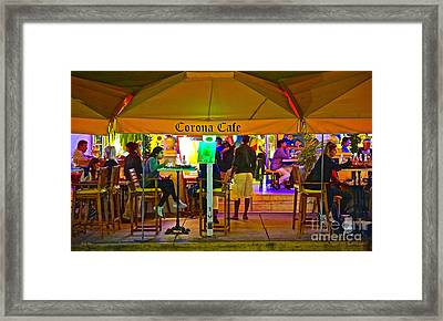Corona Cafe 2 Framed Print by Judy Kay