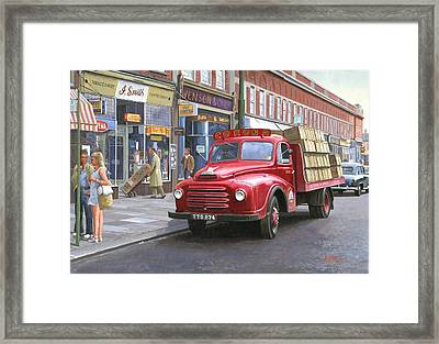 Corona Drinks Lorry. Framed Print by Mike  Jeffries
