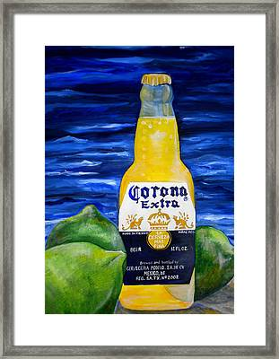 Corona Framed Print