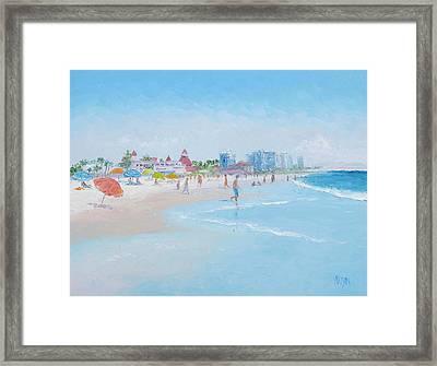 Coronado Beach San Diego Framed Print