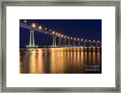 Coronado Bridge Framed Print by Eddie Yerkish