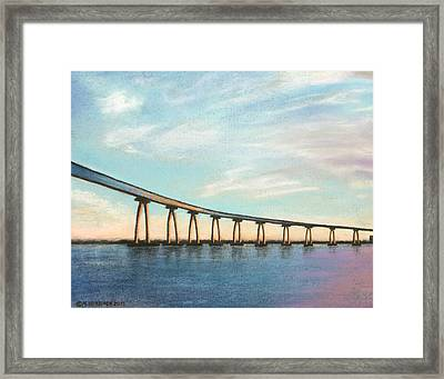 Coronado Bridge Sunset A Framed Print