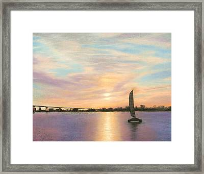Coronado Bridge Sunset  B Framed Print