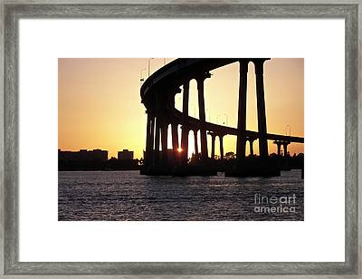 Coronado Bridge Sunset Framed Print
