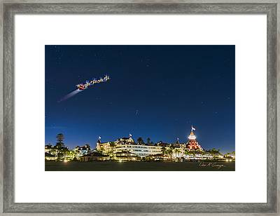 Coronado Christmas Framed Print