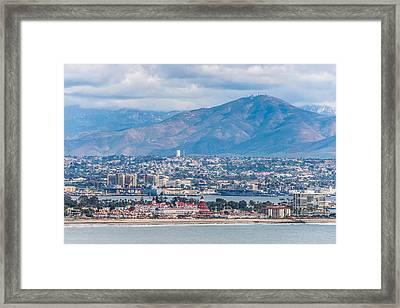 Coronado Coast - San Diego Photograph Framed Print by Duane Miller