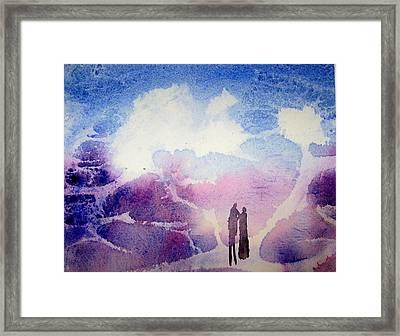 Coronado Island Wedding Framed Print by Anne Duke