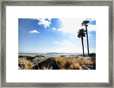 Coronado - Digital Painting Framed Print