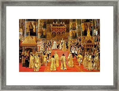 Coronation Of Emperor Alexander IIi Framed Print by Georges Becker