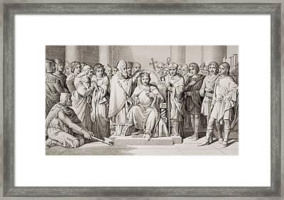 Coronation Of Harold King Of The Framed Print