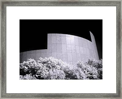 Corporate Architecture And Trees Framed Print by Yali Shi