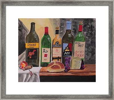 Corporate Art Sucks Framed Print by Miki Proud