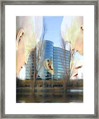 Corporate Cloning Framed Print by Kurt Van Wagner